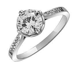 Кольцо из серебра с куб. циркониями 1749041,