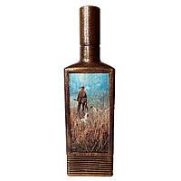Декор бутылки Одинокий охотник Подарок мужчине охотнику на день рождения, фото 1