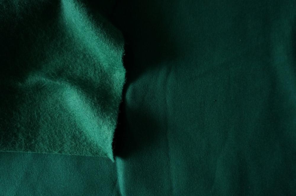 5f98f93d5820 Трикотажное полотно Футер трехнитка на флисе, Темно зеленый, с начесом,  купить оптом,