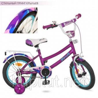 """Детский двухколесный велосипед 12 дюймов (12"""") PROFI Y12161, фиолетовый"""