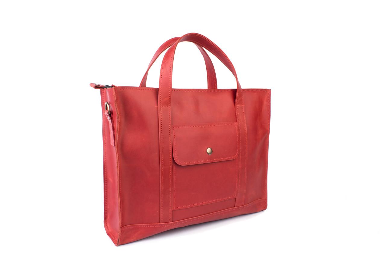 60cd5b6f42c7 Вместительная кожаная сумка красная · Вместительная кожаная сумка красная ·  Аксессуары · Сумки. 1 685 грн.