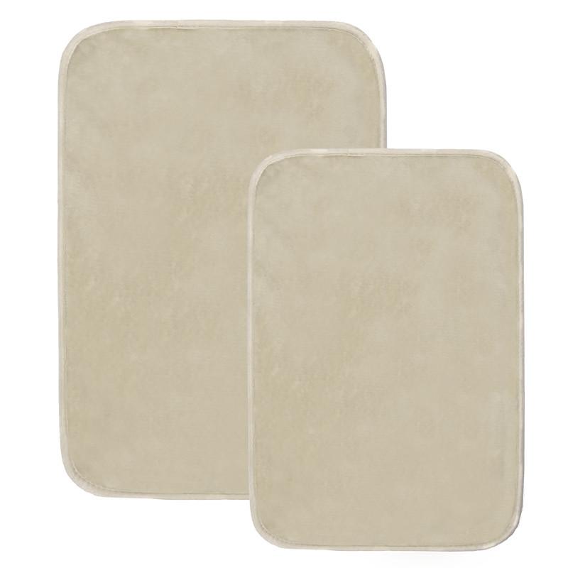 Набор ковриков для ванной комнаты из полиэстера бежевые AWD02161404