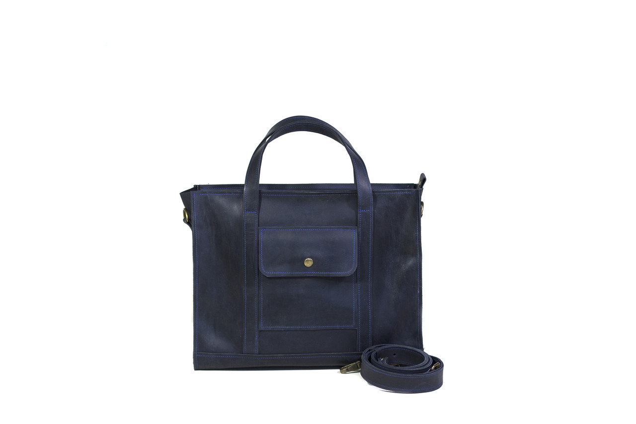 9fea8090eb29 Вместительная кожаная сумка синяя · Вместительная кожаная сумка синяя ·  Аксессуары · Сумки. 1 685 грн.