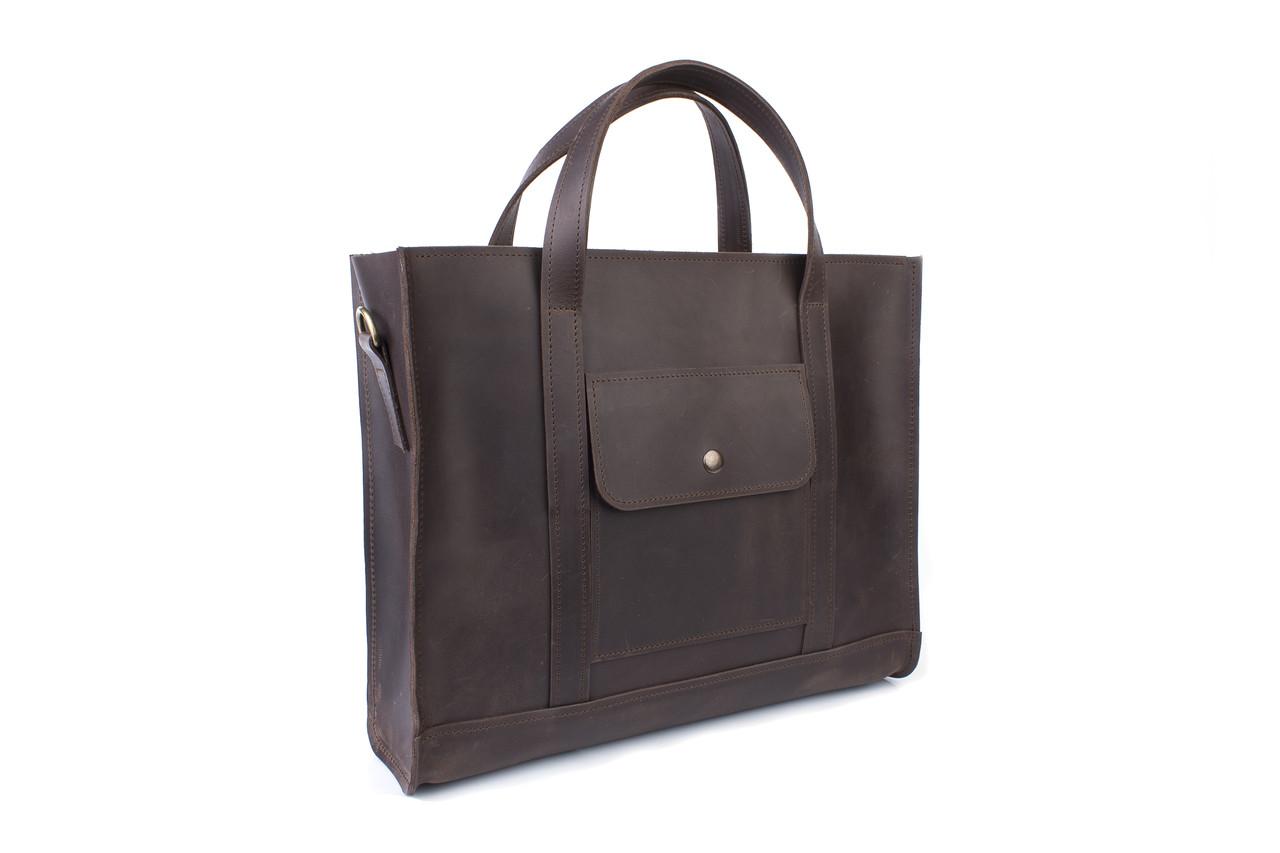 ca62399d2685 Вместительная кожаная сумка Коричневая · Вместительная кожаная сумка  Коричневая · Аксессуары · Сумки. 1 685 грн.