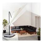 Зонт от солнца с опорой IKEA SEGLARÖ 330x240 см наклонный бежевый темно-серый 303.878.68, фото 3