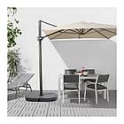 Зонт от солнца с опорой IKEA SEGLARÖ 330x240 см наклонный бежевый темно-серый 303.878.68, фото 5
