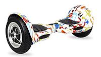 """Гироборд Smart Balance Wheel 10"""" Граффити белый"""