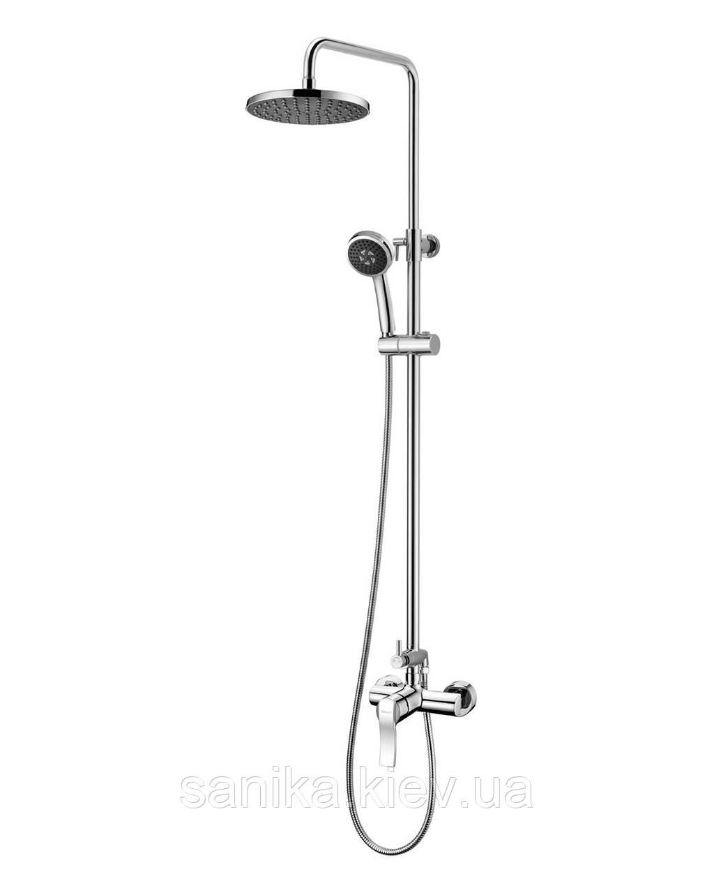 Душова система IMPRESE NOVA VLNA (змішувач для душу, верхній та ручний душ, 3 режими, шланг 1,5 м)
