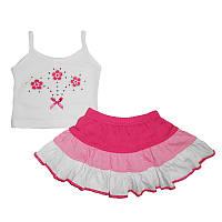 Костюм для девочки  80-98(1-3 года )майка+юбка арт.6601