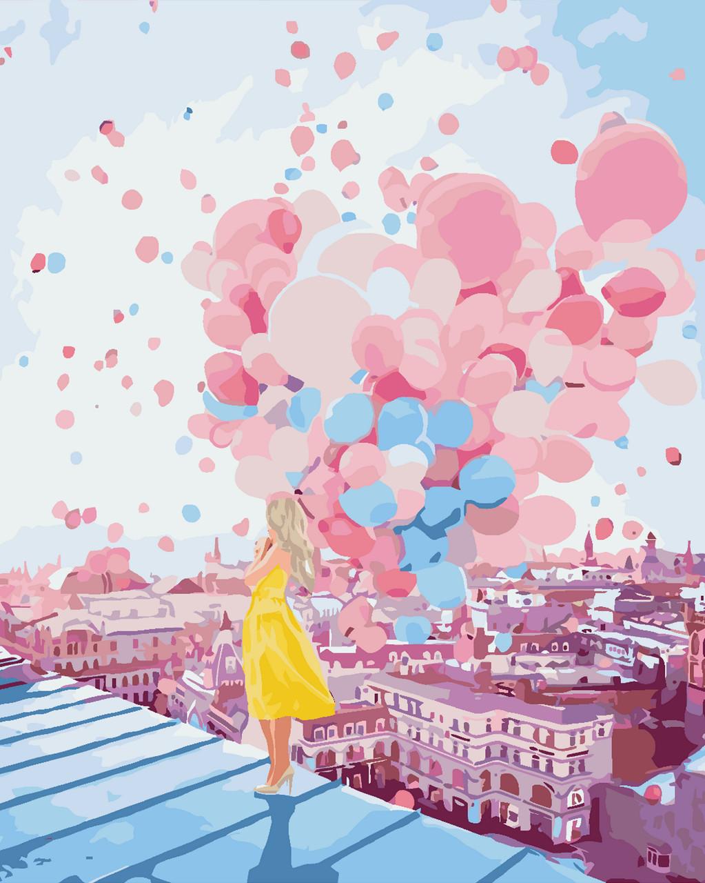 Картина-раскраска по номерам На рассвете в Париже (KH2697) Идейка 40 х 50 см