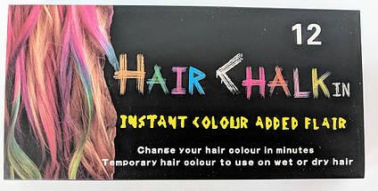 Мелки для волосHair Chalk пастель набор 12 цветов, фото 2