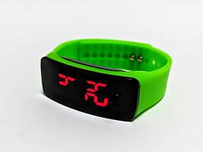 Лед часы детские на силиконовом ремешке Led Clock, фото 3