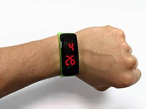 Лед часы детские на силиконовом ремешке Led Clock, фото 2