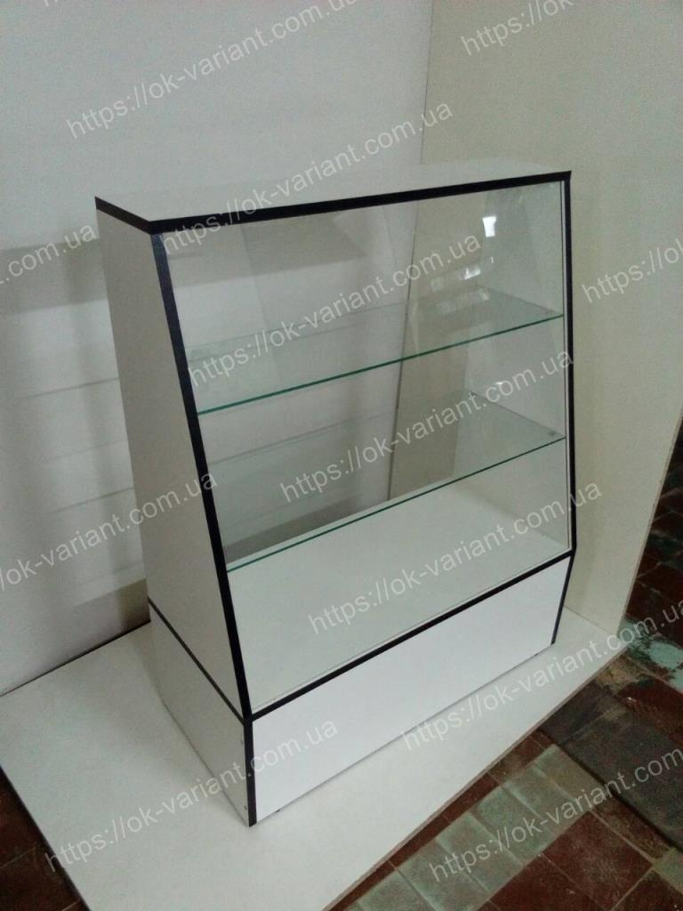 В НАЛИЧИИ. Прилавок стеклянный скошенный, стеклянная полка, витрина