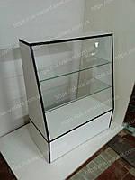 В НАЛИЧИИ. Прилавок стеклянный скошенный, стеклянная полка, витрина, фото 1
