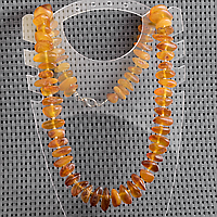 Янтарь самородки шлифованные, 12*10 мм., бусы, 446БСЯ, фото 1