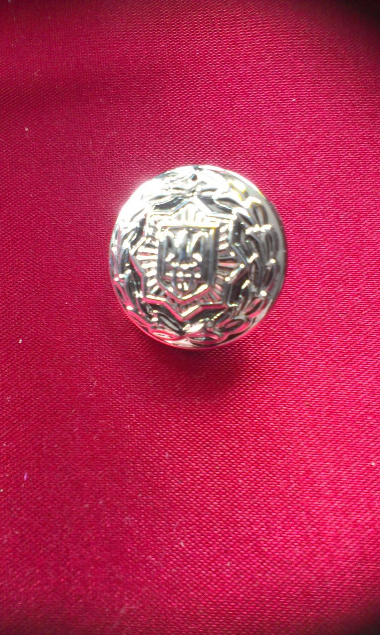 Пуговица МВД большая серебро