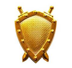 Эмблема юстиции, золото
