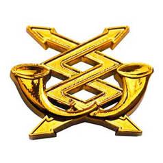 Эмблема связи, золото
