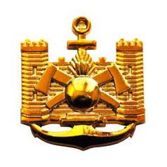 Эмблема строительных войск, золото