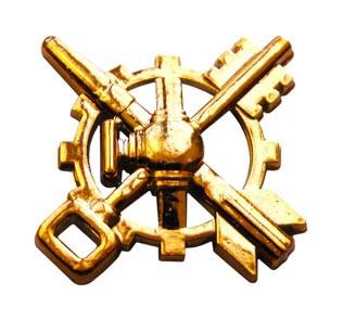 Эмблема логистики, золото