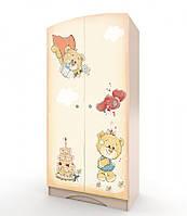 """Шкаф для ребенка """"Мишка Хеппи"""" с фотопечатью ТМ Вальтер-С венге светлый H-1.08.32, фото 1"""
