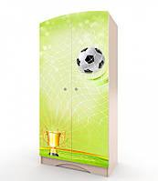 """Шкаф """"Футбол 1"""" для мальчика (Размер: 183х80х47 см) с фотопечатью ТМ Вальтер-С венге светлый H-1.08.31, фото 1"""