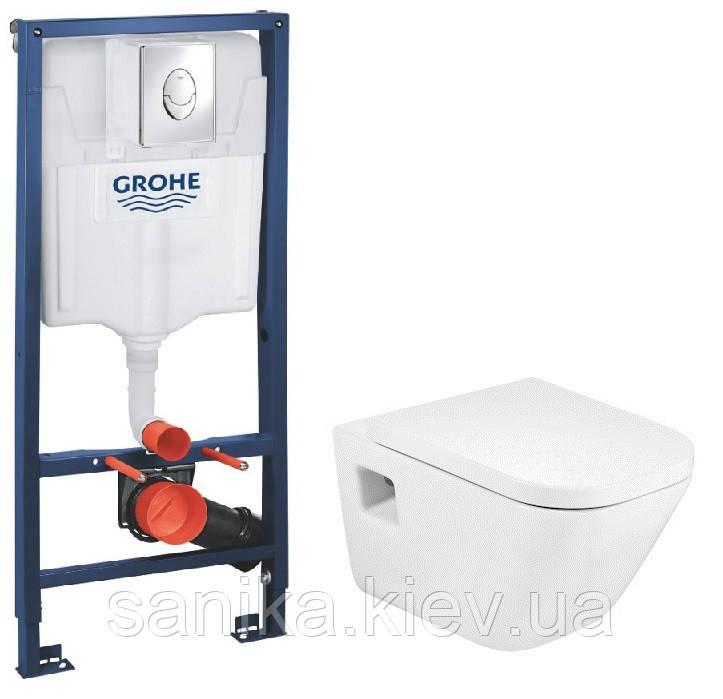 Комплект Grohe Інсталяція Rapid SL 3в1 з підвісним унітазом Roca GAP і сидінням soft close