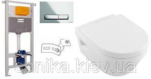 Комплект ARCHITECTURA унитаз подвесной Direct Flush с сидением Slow closing + IMPRESE комплект инсталляции 3в1
