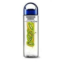 Бутылка для воды и напитков SUNROZ Fruit Bottle с контейнером для фруктов 800 мл Синяя (SUN0093)
