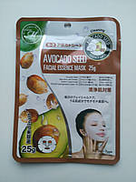 Питательная тканевая маска для лица с экстрактом косточек авокадо MITOMO  Япония, фото 1