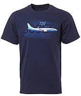 Оригинальная футболка Boeing 737 Graphic Profile T-shirt 110010010760 (Navy)