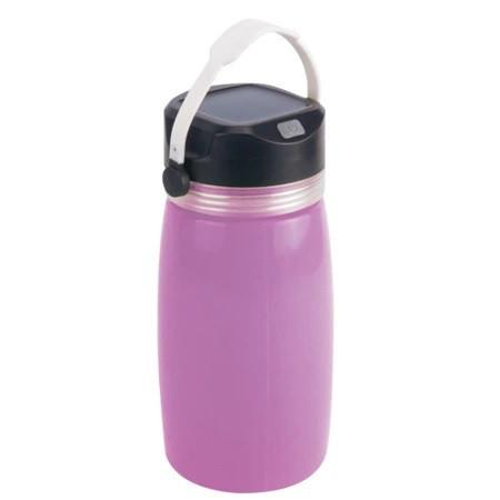 Бутылка для воды SUNROZ Solar LED Bottle с фонарем и солнечной панелью 2 в 1 750 мл Фиолетовый (SUN1094)