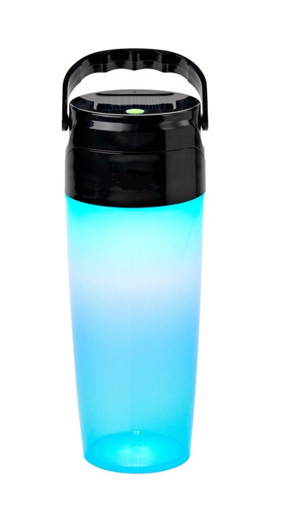 Бутылка для воды SUNROZ Solar LED Bottle с фонарем и солнечной панеллю 2 в 1 400 мл 1000 mAh Синий (SUN1095)