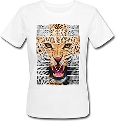 Женская футболка Don't Touch (белая)