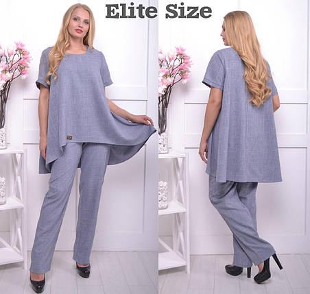 522b9d1c901c6 Женский брючный костюм с блузой большого размера 50-64 - Цена 560 ...