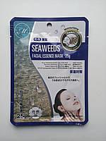 Увлажняющая тканевая маска для лица с экстрактом морских водорослей MITOMO   Япония, фото 1