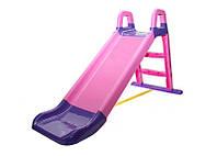 Горка для катания детей розовая, 140см, Doloni, 0140/05