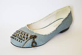 Балетки джинсовые голубые Belletta 233
