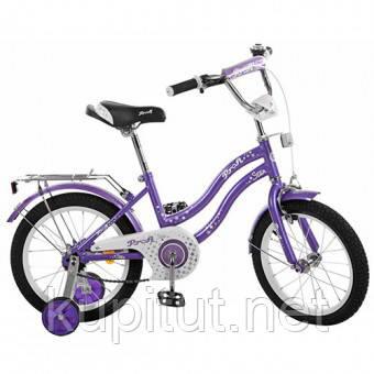 Двухколесный велосипед 14 дюймов PROFI L1493, фиолетовый