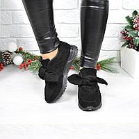 Кроссовки женские Jossy черные 4073, обувь дропшиппинг