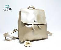 Золотой классический рюкзак, для девушки на каждый день