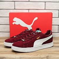 Кроссовки мужские Puma Suede 70555 пума обувь красные Реплика