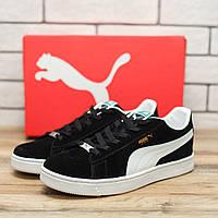 Кроссовки мужские Puma Suede 70511 обувь пума черные Реплика