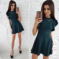 Платье с пышной юбочкой и гипюром, размеры S M, фото 2