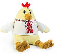 Мягкая игрушка цыпленок в вышиванке, 21см, ПІ-0009