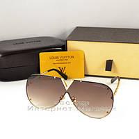 Женские cолнцезащитные очки Louis Vuitton Millionaire трендовая модель летнего сезона Луи Виттон люкс реплика, фото 1