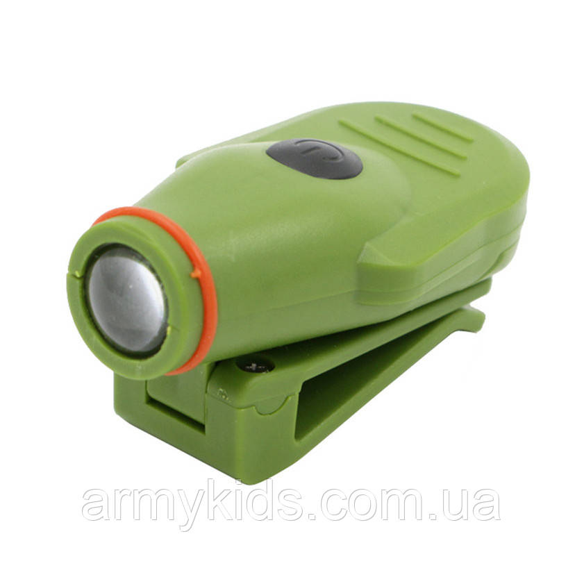 Фонарь на козырек с прищепкой цвет армейский зеленый