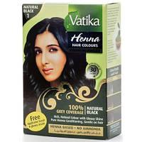 """Краска для волос """"Черная"""" Vatika Dabur, 6х10г."""