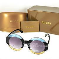 Женские солнцезащитные очки Gucci Круглые пластиковая разноцветная оправа с  глиттером Гуччи люкс реплика 35a593117e1